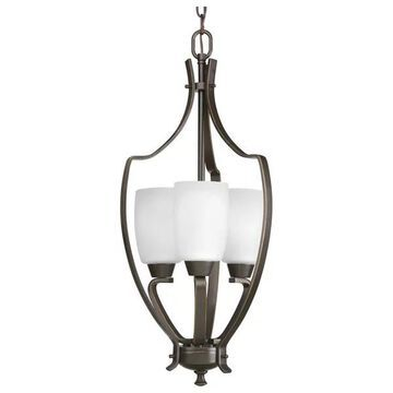 Progress Lighting P3509-20 3-Light Foyer with Etched Glass