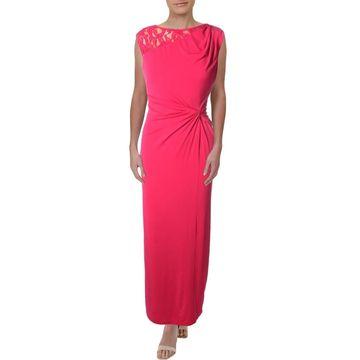 Ellen Tracy Womens Semi-Formal Dress Lace Back Sleeveless