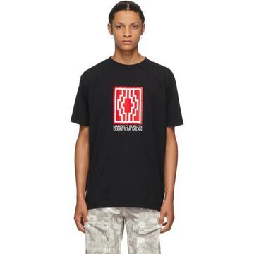 Marcelo Burlon County of Milan Black Rural Cross T-Shirt