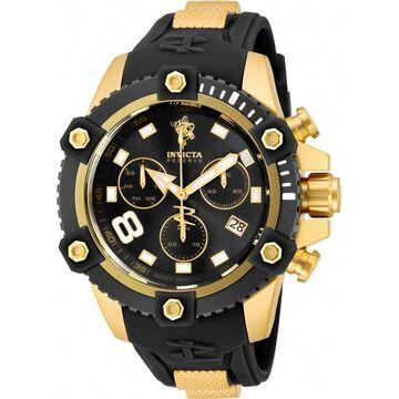 Invicta Men's 17976 'Sea Base' Black and Gold-Tone Polyurethane Watch