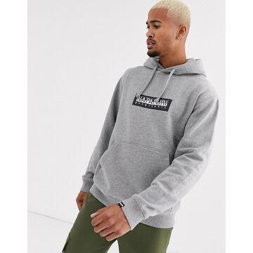 Napapijri Box hoodie in gray melange