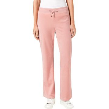 Charter Club Womens Velour Drawstring Sweatpants