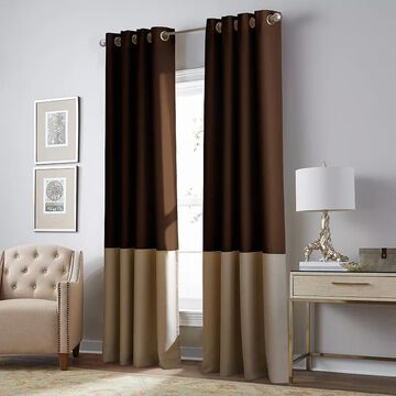 CHF Kendall Blackout Window Curtain, Brown, 50X84