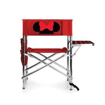 Picnic Time& Disney& Minnie Mouse Sports Chair in Red