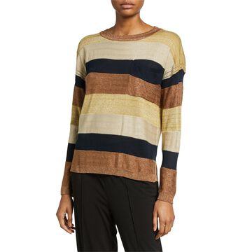 Stripe Metallic Sweater