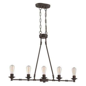 Jeremiah Lighting 37875-ABZ Hadley Island Light, Aged Bronze