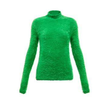 Stella Mccartney - Faux-fur Roll-neck Sweater - Womens - Green