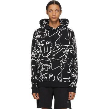 Marcelo Burlon County of Milan Black Faces Hoodie