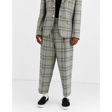 Noak drawstring pants in yellow check