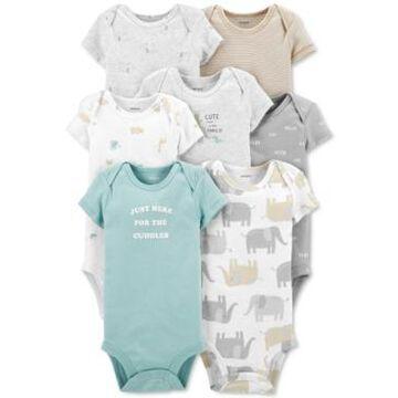 Carter's Baby 7-Pk. Cotton Animal-Print Bodysuits