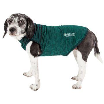 Pet Life Active Aero-Pawlse Heathered Green Quick-Dry Dog Tank Top T-Shirt, X-Small