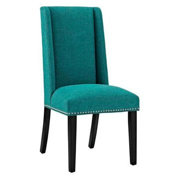 Modway Modway Baron Fabric Dining Chair, Teal