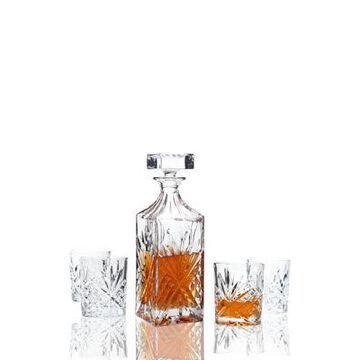 Godinger Dublin Whiskey Decanter And Double Old Fashion Set -
