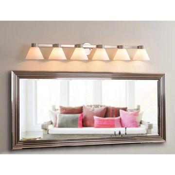 Easton 6-light Vanity Light - Brushed Steel (Easton 6 Light Vanity)