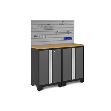 NewAge Products Bold Series 3.0 Grey 3 Piece Cabinet Set with Accessory Kit