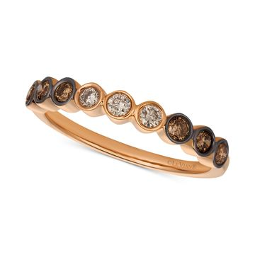 Chocolate & Nude& Diamond Band (3/8 ct. t.w.) in 14k Rose Gold