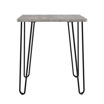 Lavish Home End Table with Hairpin Legs