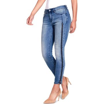William Rast Womens Denim Faded Ankle Jeans