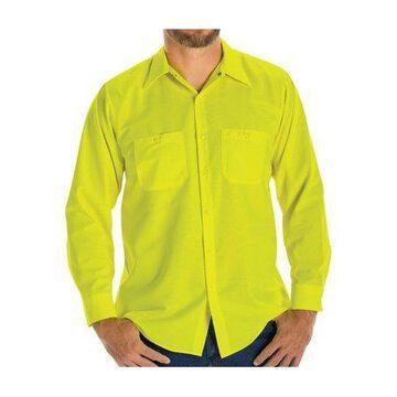 Red Kap Men's Long Sleeve Enhanced Visibility Ripstop Work Shirt