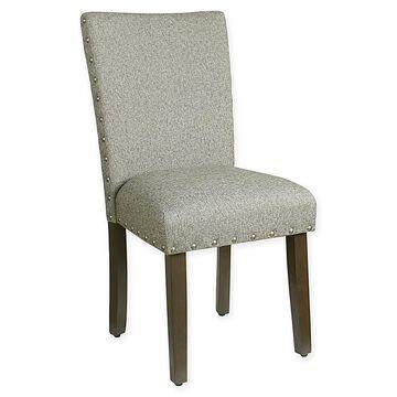 Homepop Heathered Tweed Parsons Dining Chair In Light Grey