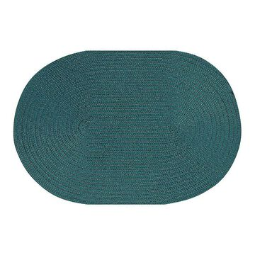 Better Trends Country Braid Solid Oval Rug, Green, 3.5X5.5 Ft