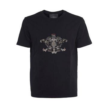John Richmond Black T-shirt With Embroidery