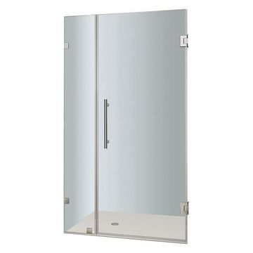Aston Nautis Completely Frameless Hinged Shower Door, Chrome, 35