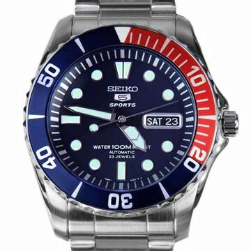 Seiko Men's SNZF15 Series 5 Sports Stainless Steel Watch