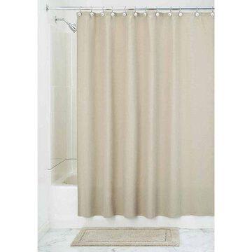InterDesign York Fabric Shower Curtain, Long, 72