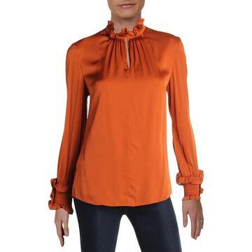 Kobi Halperin Womens Blouse Silk Ruffled