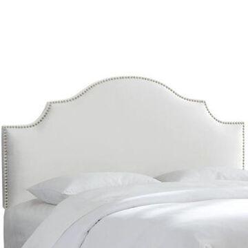 Skyline Furniture Sheffield King Headboard in Velvet White