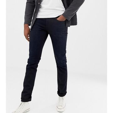 Nudie Jeans Co Tall Lean Dean tapered jeans black n blue