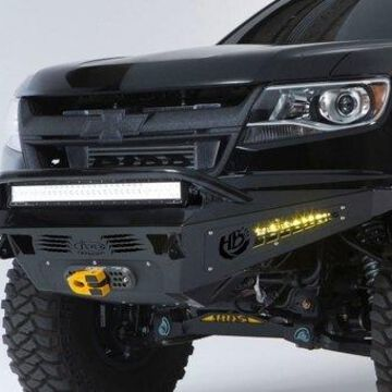 Addictive Desert Designs ADDF357382720103 Honeybadger Front Bumper with Winch Mount & 30 in. LED for 2015-2016 Colorado