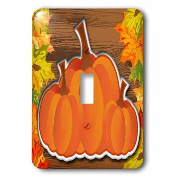 3dRose Group of Pumpkins, Single Toggle Switch