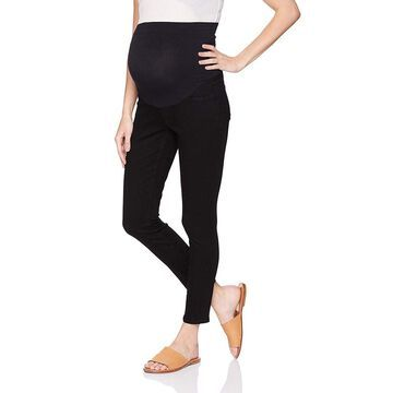 NYDJ Womens Black Size 12 Maternity Stretch Ankle High Waist Pants