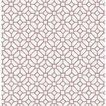Brewster 2657-22241 Gigi Plum Geometric Wallpaper