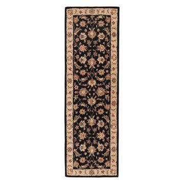 Jaipur Living Selene Handmade Floral Black/Beige Runner Rug, 4'x16'