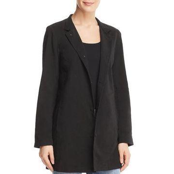 Eileen Fisher Womens Notch Long Jacket