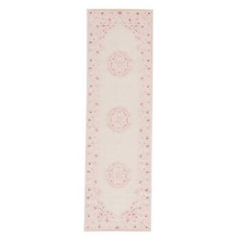 Jaipur Living Malo Medallion Pink/White Area Rug, 2'6