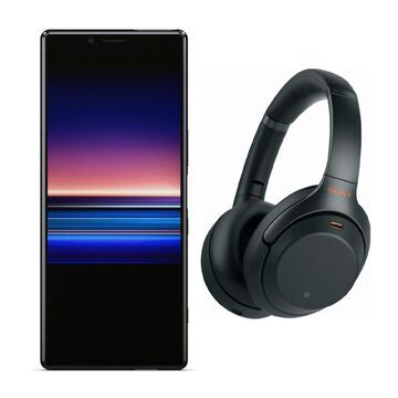 Sony Xperia 1 Unlocked Smartphone (128GB, Black) with Headphone - Black