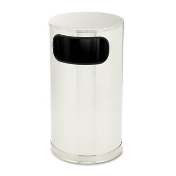 Rubbermaid Commercial European & Metallic Side-Opening Receptacle Round 12 gal