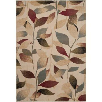 """Art of Knot Cassia Camel 6'7"""" x 9'6"""" Modern Floral Area Rug"""