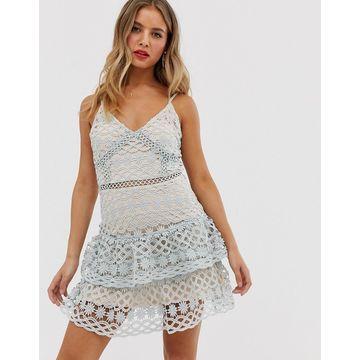 Parisian Layered Lace Midi dress