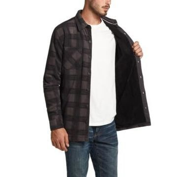 Weatherproof Vintage Men's Fleece-Lined Plaid Shirt-Jacket