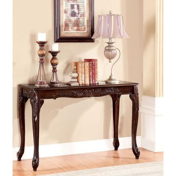Furniture of America Mariefey Cherry Classic Sofa Table