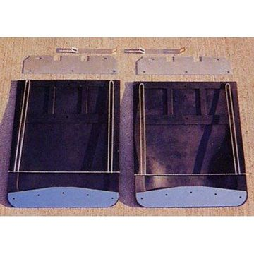 Go Industries - 70732SET - Dually Mud Flap Set - Classic Style - Includes Flaps,