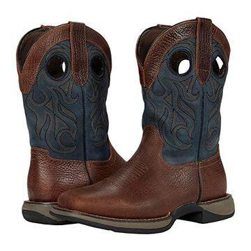Roper Wilder (Brown Leather/Vintage Blue Shaft) Cowboy Boots