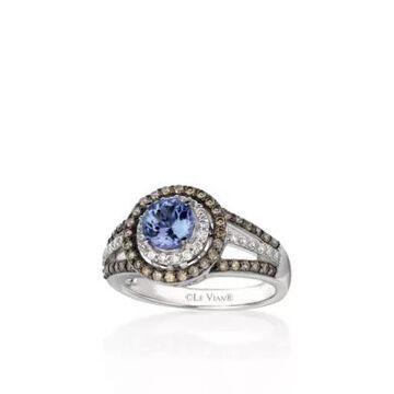 Le Vian Women 14K Vanilla Gold Blueberry Tanzanite, Chocolate Diamond, And Vanilla Diamond Ring - -