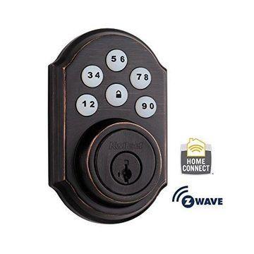 Kwikset 910 Z-Wave SmartCode Electronic Deadbolt w/ SmartKey in Venetian Bronze