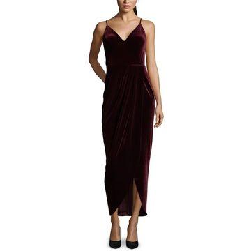 Xscape Womens Evening Dress Velvet Split Hem